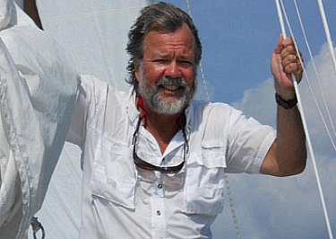 Sailing is one of Douglas Arvidson's favorite pastimes.